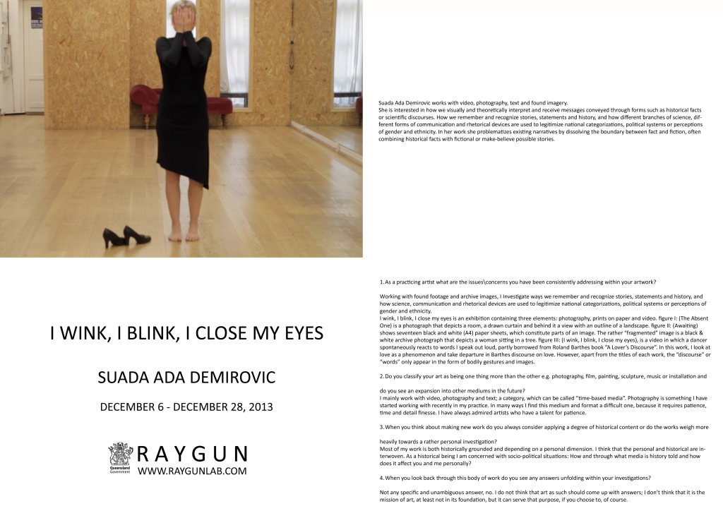 Suada - I Wink, I Blink, I close my eyes Catalogue