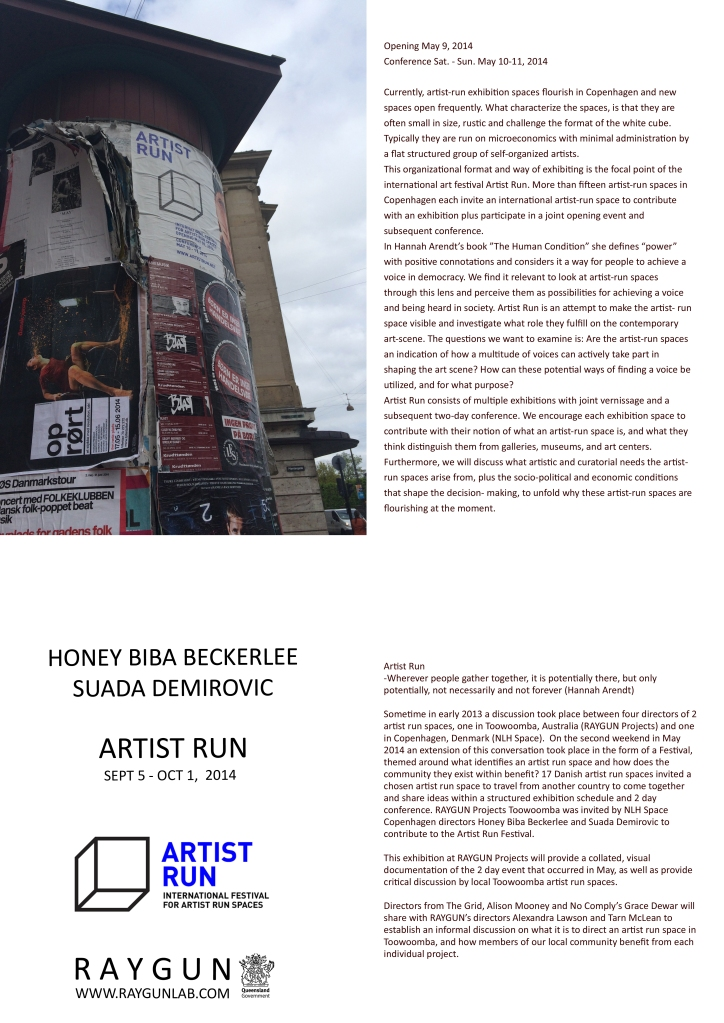 ARTIST RUN catalogue