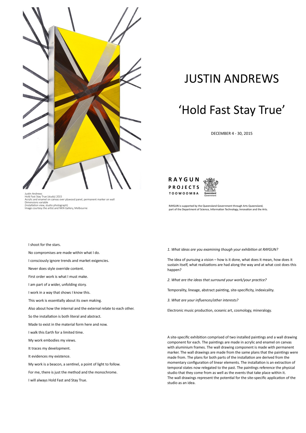 Justin Andrews Catalogue